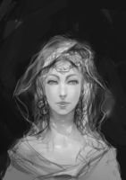 Female wizard - rough sketch by aditya777