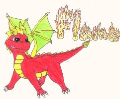 Flame the Dragon by Up-Your-Arsenal-N90