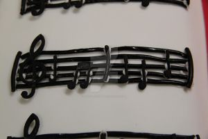 Music Sheet Book Cake Close Up by The-Ice-Flower