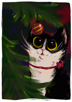 Christmas cat by Fjodor
