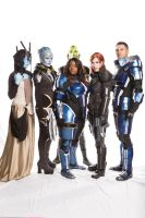 Mass Effect Cast Cosplay (with us cosplayers!) by Viverra1