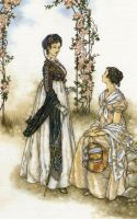 Lady Russell and Anne Elliot by Himmapaan