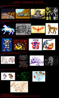 Commission Pricelist - Dec 2012 by Deathcomes4u
