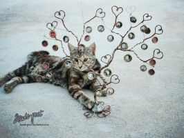 Family Tree (and cat!) by beads-poet