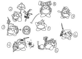 CONCEPT ART: KOoD - Waddle Dee's Abilities by ChronoWeapon