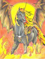 Equine Spirits:  Fire God by Black-Feather