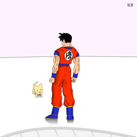 Future Gohan training in the time chamber by nial09