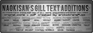 Gill Sans Text Icon Additions by mrspokemon