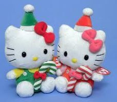 Hello Kitty Christmas 2011 Plushies by hello-kitty-hugs