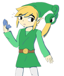 Toon Link and Ezlo by Fusaex3