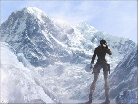 Lara in the Himalayas by tombraiderfanart