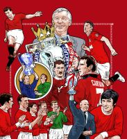 Manchester United book cover by chegg69