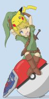 Pikachu and Link by o0Syringes0o