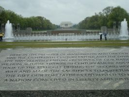 WWII Memorial Perspective by BrownEyedWyldChyld