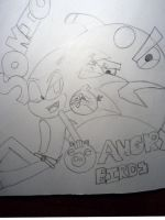 sonic and angy birds by Ilovesmich