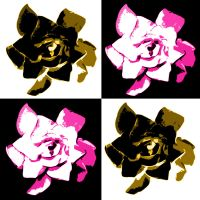 PInk and Yellow Gardena POPARt by rocker409