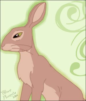 Watership Down Style Rabbit by blue-phoenix