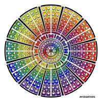 Mandala 52 - Rainbow coloured by Mandala-Jim