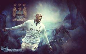 Yaya Toure Wallpaper by ManCityGraphics