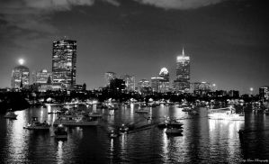 Boston After Dark II by MyLifeThroughTheLens