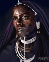 Maasai Girl Study by freakyfir