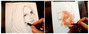 Drawing portraits by SILENTJUSTICE
