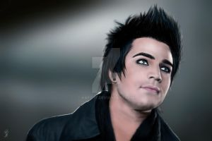 3rd Adam Lambert Painting by kApZ-17