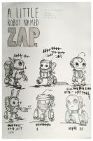 A little Robot Named Zap by ChasingArtwork