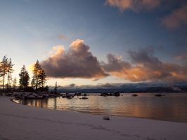 Sand Harbor Evening by MartinGollery