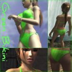 Green Bikini Outfit by XTombRaiderxx