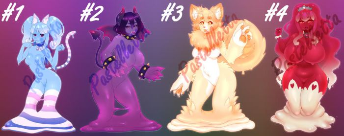 Slime Babes Adoptable Auction! CLOSED by PastellettaArt