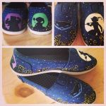 Handpainted Sly Cooper Themed Shoes by ROpride