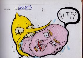 The Earl of Lemongrab spitting out Will Sasso by jEROMEaNIMATIONS