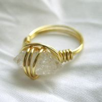 Gold Plated Quartz Ring III by DarkFireRaven