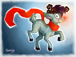 Randy the red-nosed reindeer by Noanja