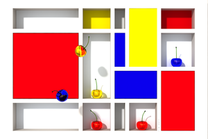 Abstract Glass Cherries 3 by THE-LEMON-WATCH