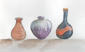 Coffee Shop - Vases by kendravixie