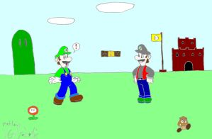 Luigi Meets Jicky by VGAfanatic
