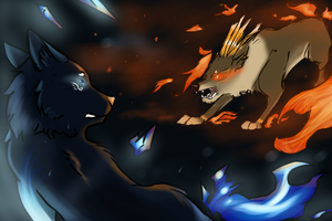 .:collab:. ice VS fire by snowpups123