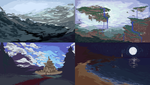 Pixel Landscape Concepts by BraddyApples