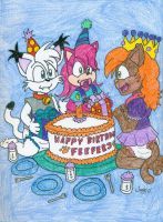 Feefer's Birthday Pencil Color by JayManney4Life