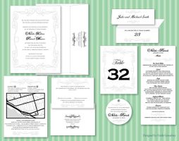 Black and Silver Wedding Suite by Lanisatu
