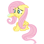 Grossed out Fluttershy by Peachspices
