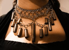 Cartridge Shell Necklace by kungfubellydancer