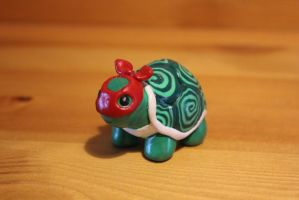 Miniature polymer clay teenage mutant ninja turtle by LittleRedPanda93