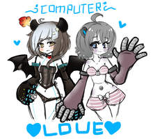 Computer Couple by TheScarletDevil