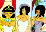 Three Sexy Egyptian Ladies by lordtrigonstar