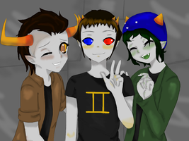tavros, sollux, nepeta by tthe13th
