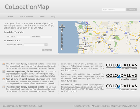 Layout: Co-Location Map by sunlessdesign