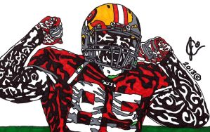 Vernon Davis Ink Illustration (TD Celetration) by JColley79